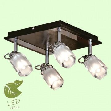 Потолочная люстра с регулировкой направления света Lussole Abruzzi GRLSL-7901-04, 4xG9x4W, хром, черный, белый, металл, пластик, стекло