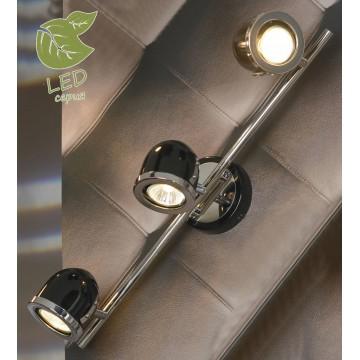 Потолочный светильник с регулировкой направления света Lussole Loft Tivoli GRLSN-3121-03, IP21, 3xGU10x5,5W, хром, черный, металл