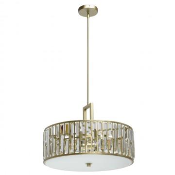 Потолочная люстра MW-Light Монарх 121010305, 5xE27x40W, матовое золото, прозрачный, металл, хрусталь, стекло