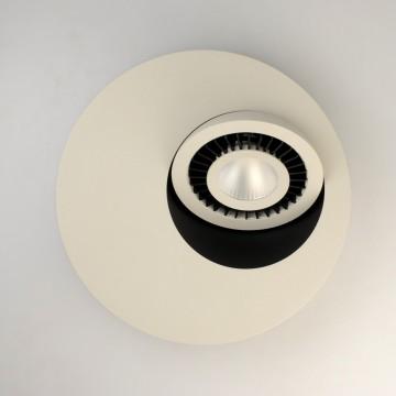 Потолочный светодиодный светильник с регулировкой направления света De Markt Круз 637016401, LED 7W 3000K, серый, черный, металл, пластик