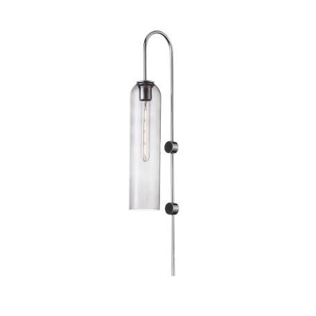 Бра ST Luce Callana SL1145.141.01, 1xE27x60W, хром, дымчатый, металл, стекло