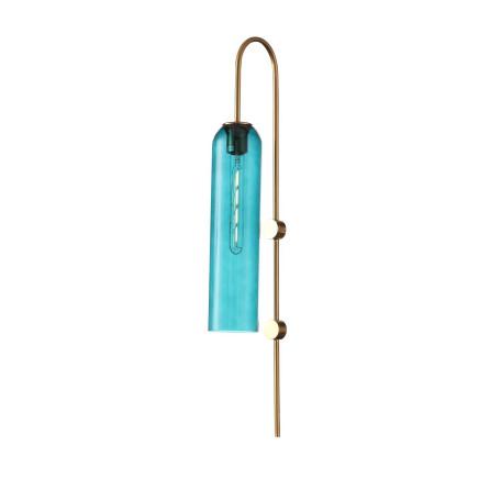 Бра ST Luce Callana SL1145.381.01, 1xE27x60W, золото, голубой, металл, стекло