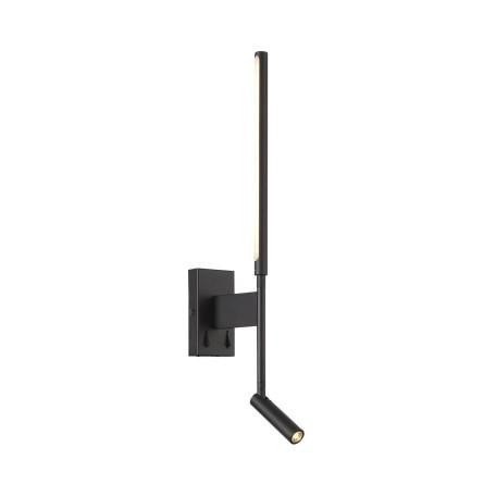 Настенный светодиодный светильник с регулировкой направления света с дополнительной подсветкой ST Luce Ralio SL1580.401.02, LED 9W 3200K 702lm, черный, металл, металл с пластиком