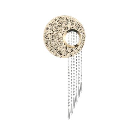 Настенный светильник ST Luce Petore SL1106.201.02, 2xG9x3W, золото, прозрачный, металл, хрусталь