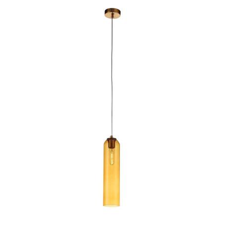 Подвесной светильник ST Luce Callana SL1145.393.01, 1xE27x60W, золото, янтарь, металл, стекло