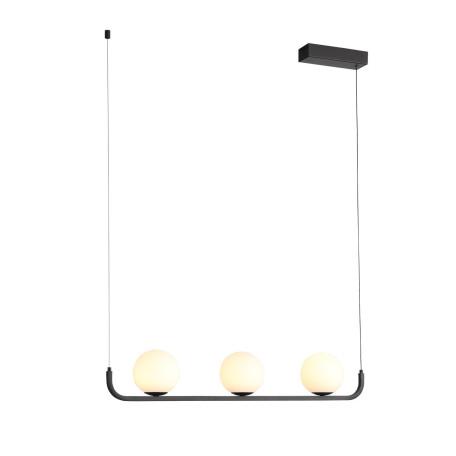 Подвесной светодиодный светильник ST Luce Botelli SL1581.403.03, LED 24W 3200K 1656lm, черный, белый, металл, стекло