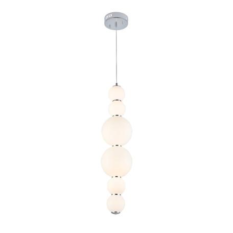 Подвесной светодиодный светильник ST Luce Nepazzo SL1583.103.01, LED 24W, хром, белый, металл, стекло