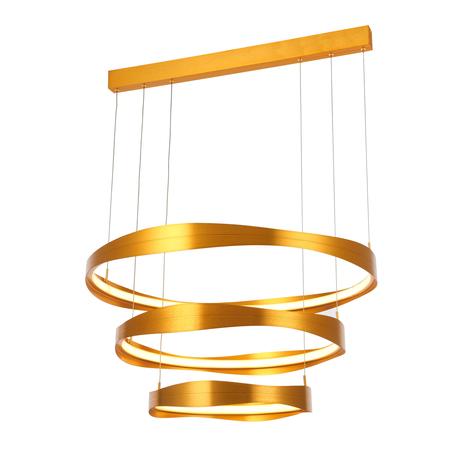 Подвесной светодиодный светильник ST Luce Elazzo SL1594.203.03, LED 148W 3000K 11248lm, матовое золото, металл