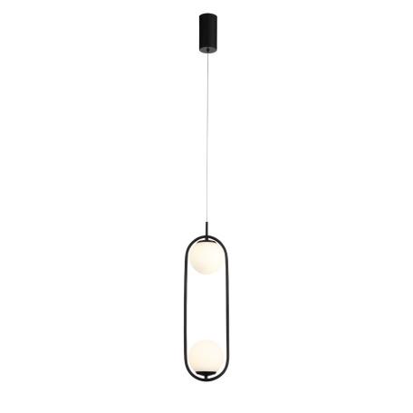 Подвесной светодиодный светильник ST Luce Donolo SL395.403.02, LED 16W 4000K 1248lm, черный, белый, металл, стекло