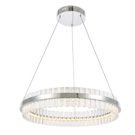 Подвесной светодиодный светильник ST Luce Cherio SL383.113.01, LED 44W 4000K 3432lm, хром, прозрачный, металл, металл с хрусталем