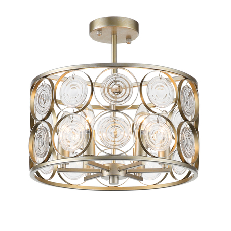 Потолочная люстра ST Luce Seranda SL1105.202.06, 6xE14x60W, матовое золото, металл, металл со стеклом