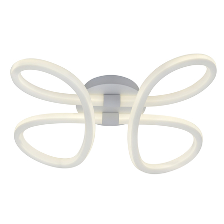 Потолочная светодиодная люстра ST Luce Strado SL1125.102.01, LED 60W 4000K 4000lm, белый, металл, пластик
