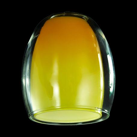 Плафон Eurosvet Monpasie плафон 9808, 30151 желтый+прозрачный, арт. 70435, желтый, стекло