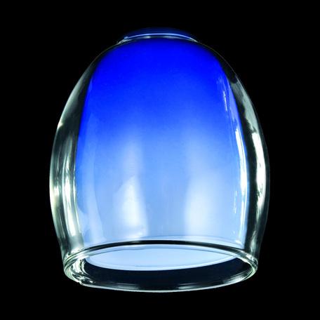 Плафон Eurosvet Monpasie плафон 9808/30151 синий+прозрачный, арт. 70434, синий, стекло