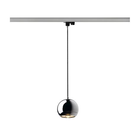 Подвесной светильник для шинной системы SLV 3Ph, LIGHT EYE® 150 PD 153112, 1xGU10x75W, хром
