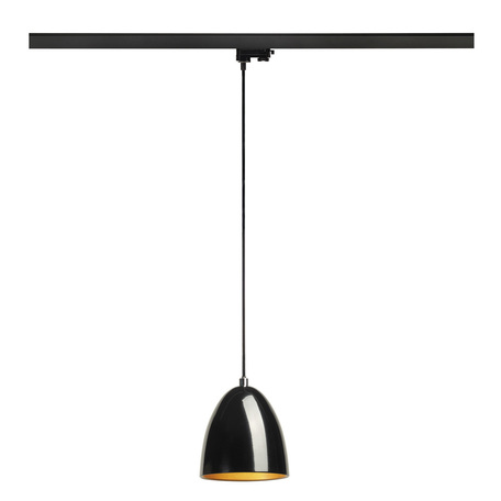 Подвесной светильник для шинной системы SLV 3Ph, PARA CONE 14 153140, 1xGU10x35W, черный