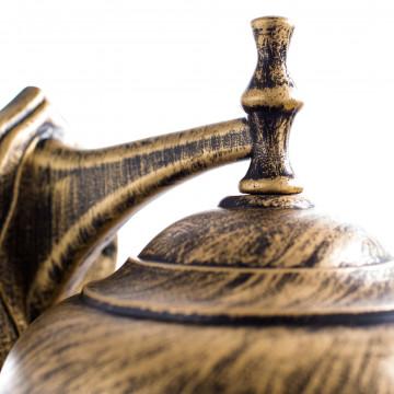 Настенный фонарь Arte Lamp Barcelona A1482AL-1BN, IP44, 1xE27x75W, черный с золотой патиной, прозрачный, черненое золото, металл, пластик - миниатюра 4