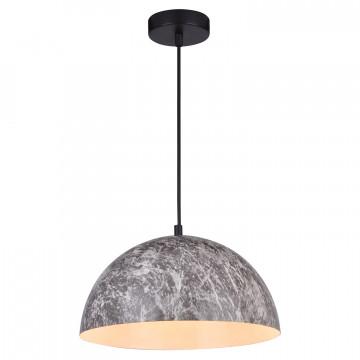 Подвесной светильник Lussole LGO Caldwell LSP-0178, IP21, 3xE14x40W, черный, серый, металл