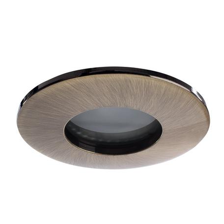 Встраиваемый светильник Arte Lamp Instyle Aqua A5440PL-1AB, IP44, 1xGU10x50W, бронза, металл, стекло