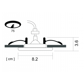 Схема с размерами Arte Lamp Instyle A5440PL-1AB