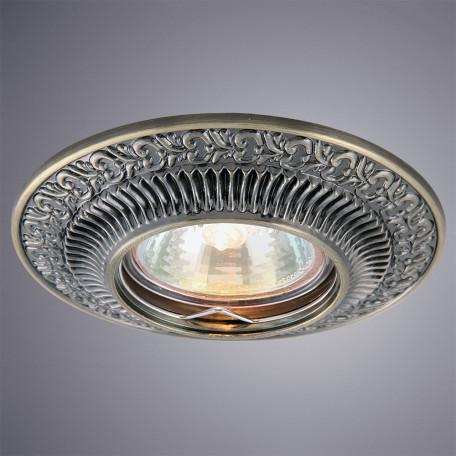 Встраиваемый светильник Arte Lamp Instyle Occhio A5280PL-1AB, 1xGU10x50W, бронза, металл