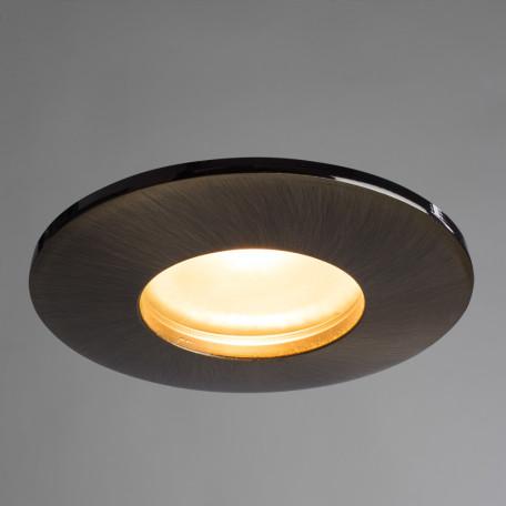 Встраиваемый светильник Arte Lamp Instyle Aqua A5440PL-1AB, IP44, 1xGU10x50W, бронза, металл, стекло - миниатюра 2
