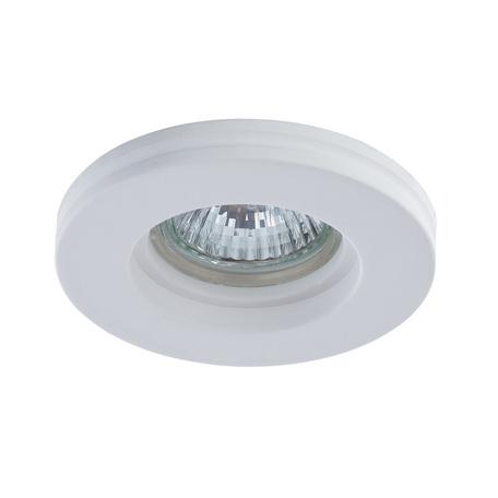 Встраиваемый светильник Arte Lamp Instyle Invisible A9210PL-1WH, 1xGU10x35W, белый, под покраску, гипс