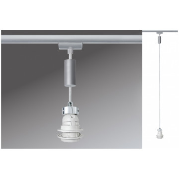 Основание подвесного светильника для шинной системы Paulmann Basic-Pendulum 97651, 1xE27x5,5W, матовый хром, металл
