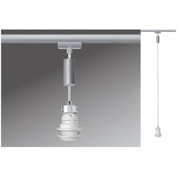 Светильник Paulmann Basic-Pendulum 97651, 1xE27x5,5W, матовый хром, металл
