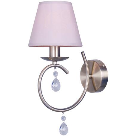 Бра Toplight Gillian TL1136-1W, 1xE14x40W, бронза, серый, прозрачный, металл, текстиль, стекло