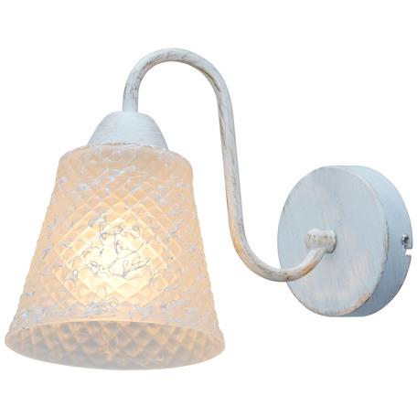 Бра Toplight Jaclyn TL1141-1W, 1xE14x60W, белый с золотой патиной, белый, металл, стекло