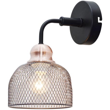 Бра Toplight Griselda TL1158-1W, 1xE27x60W, черный, медь, металл