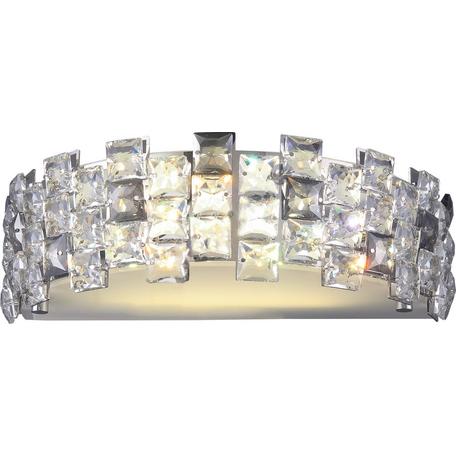 Бра Toplight Jemima TL1159-2W, 2xE14x40W, хром, прозрачный, металл, пластик со стеклом
