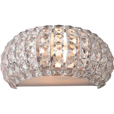 Бра Toplight Jacobina TL1161-2W, 2xE14x40W, хром, прозрачный, металл, пластик со стеклом