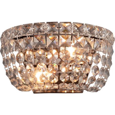 Бра Toplight Letitia TL1165-2W, 2xE14x40W, никель, прозрачный, металл, стекло