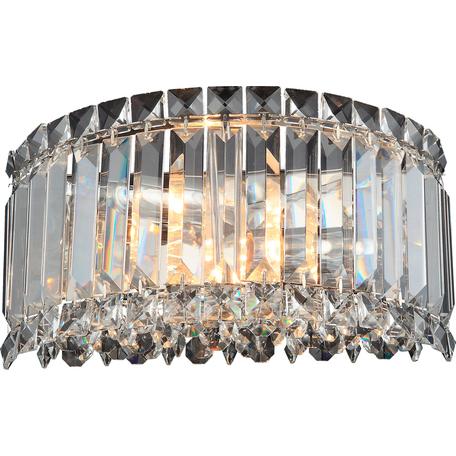 Бра Toplight Lorinda TL1166-2W, 2xE14x40W, хром, прозрачный, металл, стекло