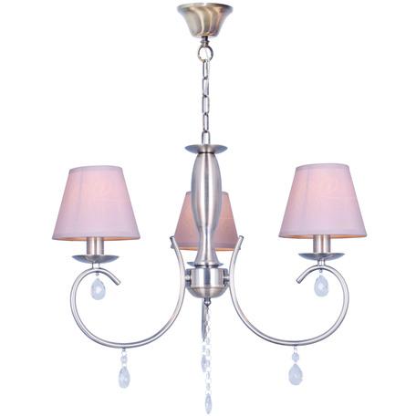 Подвесная люстра Toplight Gillian TL1136-3H, 3xE14x40W, бронза, серый, прозрачный, металл, текстиль, стекло