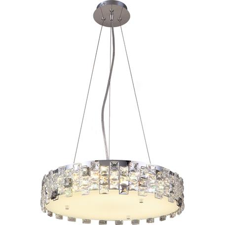 Подвесная люстра Toplight Jemima TL1159-4H, 4xE14x40W, хром, прозрачный, металл, пластик со стеклом