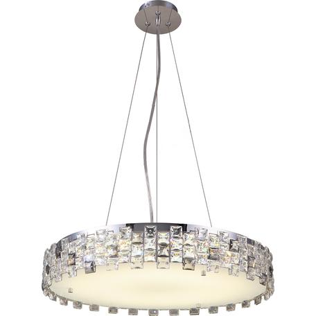 Подвесная люстра Toplight Jemima TL1159-4H1, 4xE14x40W, хром, прозрачный, металл, пластик со стеклом