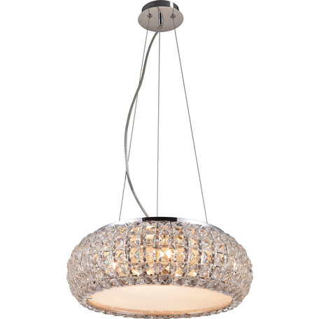Подвесная люстра Toplight Jacobina TL1161-4H, 4xE14x40W, хром, прозрачный, металл, пластик со стеклом