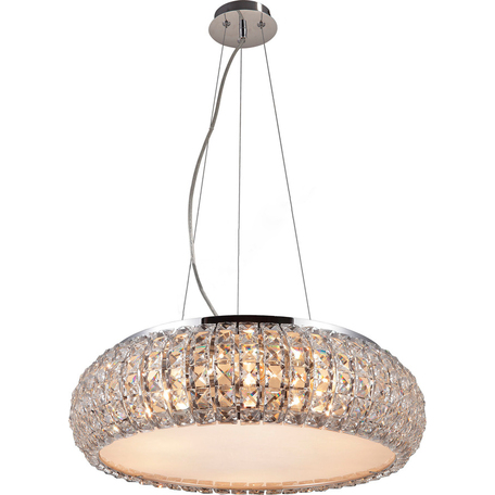 Подвесная люстра Toplight Jacobina TL1161-6H, 6xE14x40W, хром, прозрачный, металл, пластик со стеклом