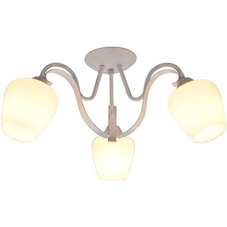 Потолочная люстра Toplight Abegail TL1133-3D, 3xE27x60W, белый с золотой патиной, белый, металл, стекло
