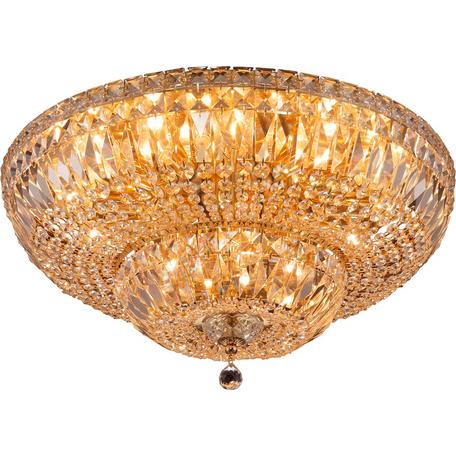 Потолочная люстра Toplight Loraine TL1164-3D5, 3xE14x40W, золото, прозрачный, металл, стекло