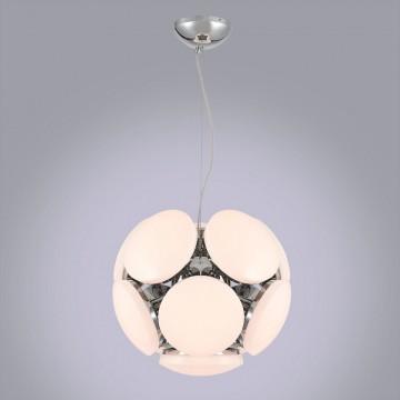 Подвесная светодиодная люстра Citilux Тамбо CL716221Wz, LED 132W 3000K 11000lm, хром, белый, металл, пластик - миниатюра 3