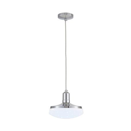 Подвесной светодиодный светильник Citilux Тамбо CL716111Nz, LED 12W 4000K 1000lm, хром, белый, металл, пластик