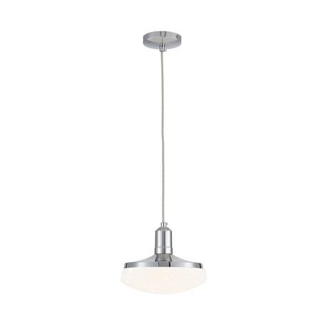 Подвесной светодиодный светильник Citilux Тамбо CL716111Wz, LED 12W 3000K 1000lm, хром, белый, металл, пластик