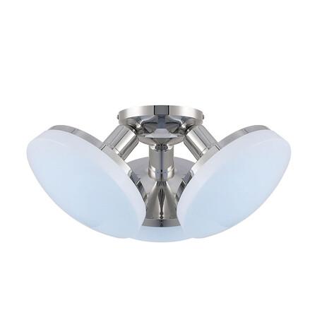 Потолочная светодиодная люстра Citilux Тамбо CL716131Nz, LED 36W 4000K 3000lm, хром, белый, металл, пластик