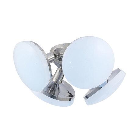 Потолочная светодиодная люстра Citilux Тамбо CL716141Nz, LED 48W 4000K 4000lm, хром, белый, металл, пластик