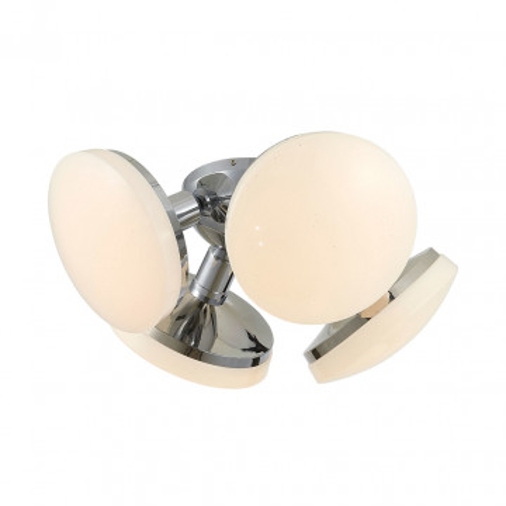 Потолочная светодиодная люстра Citilux Тамбо CL716141Wz, LED 48W 3000K 4000lm, хром, белый, металл, пластик