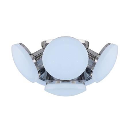 Потолочная светодиодная люстра Citilux Тамбо CL716161Nz, LED 72W 4000K 6000lm, хром, белый, металл, пластик